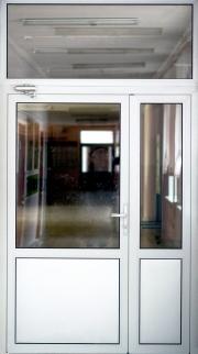 Дымонепроницаемая алюминиевая дверь ДВ5Д(Д1) А (О/Ч) Л(П)