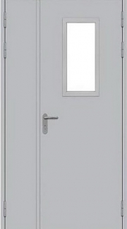Противопожарная дверь EI60 ДП-1-С-О-2П(Л)-Рп-пл