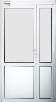 Дымонепроницаемая алюминиевая дверь ДВ5Д(Д1) А Г Л(П)