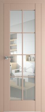 101U Капучино Прозрачное стекло (экошпон)