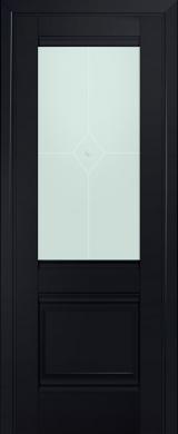 2U Черный Матовое стекло (экошпон)